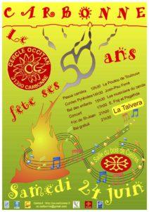 Affiche 50 ans Cercle Occitan de carbonne